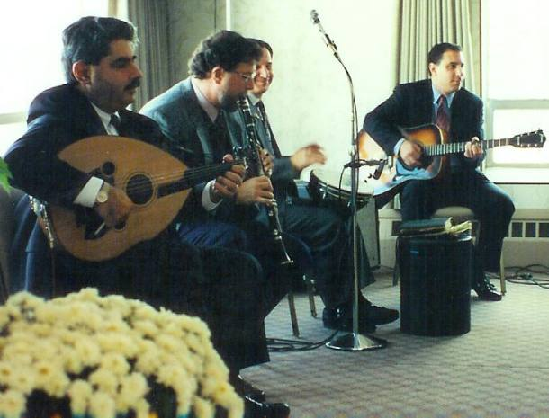 The Roger Krikorian Ensemble playing at a Habousi reunion
